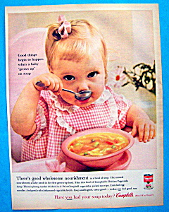 Vintage Ad: 1960 Campbell's Chicken Vegetable Soup (Image1)