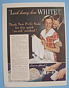 Vintage Ad: 1935 P and G White Naptha Soap (Image1)