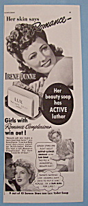 Vintage Ad: 1942 Lux Toilet Soap W/irene Dunne