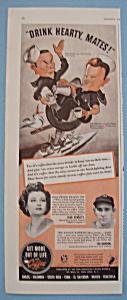 Vintage Ad: 1942 Coffee w/Joe Gordon & Joan Bennett (Image1)
