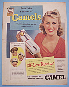 1942 Camel Cigarettes w/Lovely Woman Holding Cigarettes (Image1)