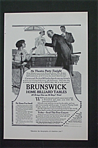 1916 Brunswick Home Billiard Table with People by Table (Image1)