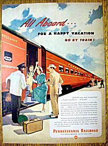 Vintage Ad: 1949 Pennsylvania Railroad (Image1)
