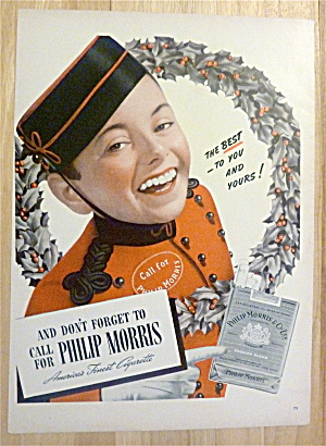 1940 Philip Morris Cigarettes with Bellboy in Wreath  (Image1)