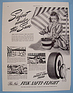 Vintage Ad: 1941 Fisk Safti-Flight Tires (Image1)