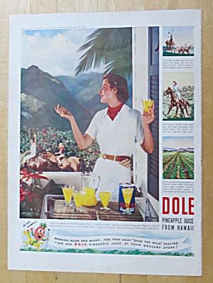 1939 Dole Pineapple Juice with Woman on Balcony (Image1)