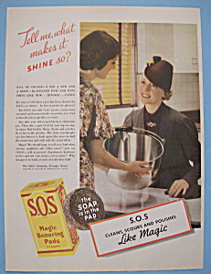 Vintage Ad: 1937 S. O. S. Magic Scouring Pads (Image1)