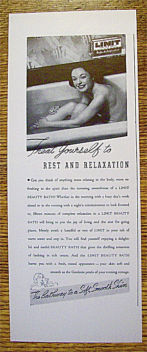 1937 Linit Beauty Bath with Woman In The Bathtub (Image1)