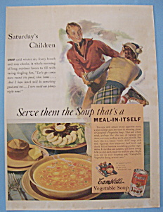 Vintage Ad: 1938 Campbell's Vegetable Soup (Image1)