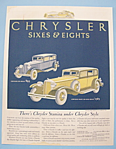 Vintage Ad: 1931 Chrysler Sixes & Eights