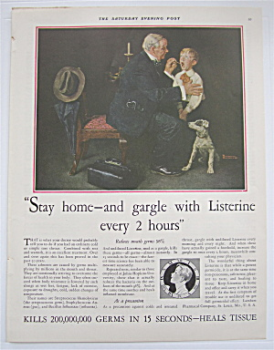 1931 Listerine w/Doctor & Little Boy By Norman Rockwell (Image1)