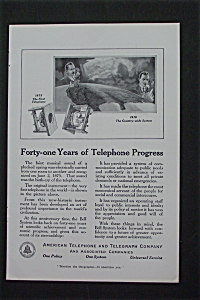1916 American Telephone & Telegraph Co With Progress