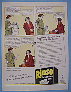 Vintage Ad: 1931 Rinso Soap (Image1)