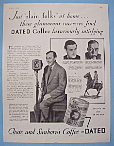 Vintage Ad: 1930 Chase & Sanborn Coffee w/Nils Asther (Image1)