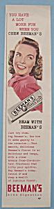 Vintage Ad: 1940 Beeman's Pepsin Gum (Image1)