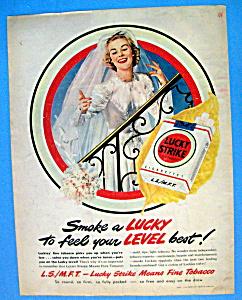 Vintage Ad: 1949 Lucky Strike Cigarettes (Image1)