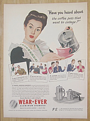 1945 Wear Ever Aluminum Utensil w/Woman Pouring Coffee (Image1)