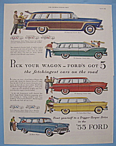 Vintage Ad: 1955 Ford Wagons
