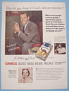 1954 Camel Cigarettes with Actor William Holden (Image1)