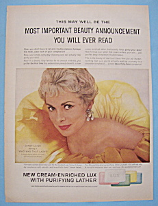 Vintage Ad: 1960 Lux Soap With Janet Leigh