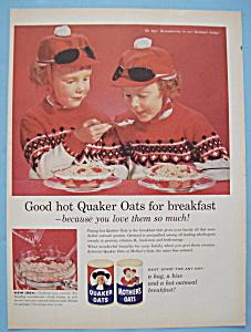 Vintage Ad: 1960 Quaker Oats Cereal (Image1)