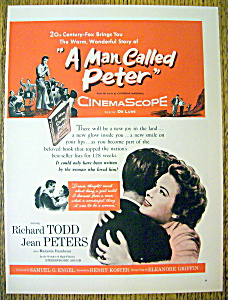 Vintage Ad: 1953 A Man Called Peter (Image1)