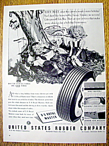 Vintage Ad: 1940 U. S. Royal Master Tires with Lily May (Image1)