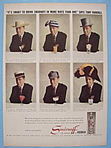 Vintage Ad: 1959 Smirnoff Vodka w/ Tony Randall (Image1)