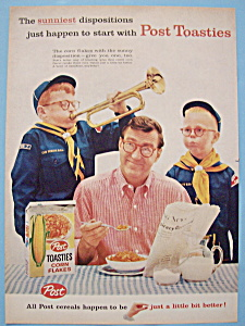 Vintage Ad: 1959 Post Toasties Corn Flakes (Image1)