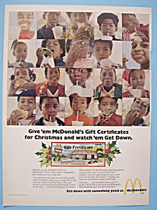 1972 Mc Donald's Restaurant With Different Children