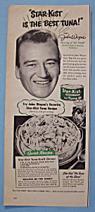 Vintage Ad: 1950 Star Kist Tuna With John Wayne