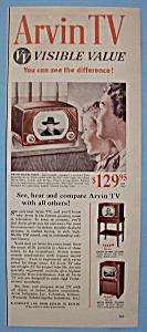 Vintage Ad: 1950 Arvin TV (Image1)