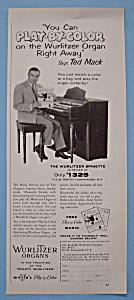 Vintage Ad: 1955 Wurlitzer Organ with Ted Mack (Image1)