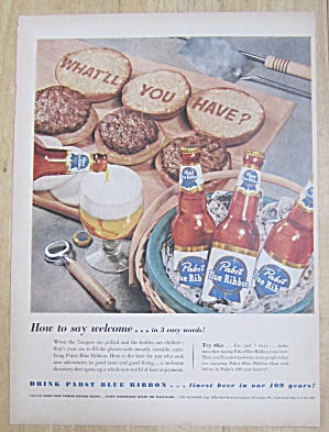 1953 Pabst Blue Ribbon Beer with Burgers & Beer  (Image1)