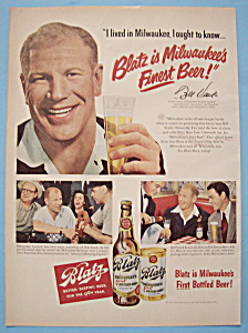 Vintage Ad: 1950 Blatz Beer with Bill Veeck (Image1)