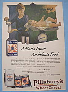 Vintage Ad: 1920 Pillsbury's Wheat Cereal (Image1)