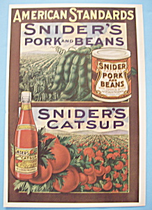 Vintage Ad: 1914 Snider's Pork & Beans And Catsup