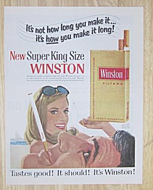 1967 Winston Cigarettes with Man & Woman Smoking  (Image1)