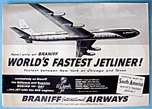 Vintage Ad: 1960 Braniff International Airways