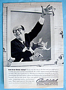 Vintage Ad: 1960 Consolidated Paper W/ Phil Silvers