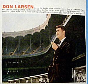 Vintage Ad: 1957 Camel Cigarettes w/ Don Larsen (Image1)