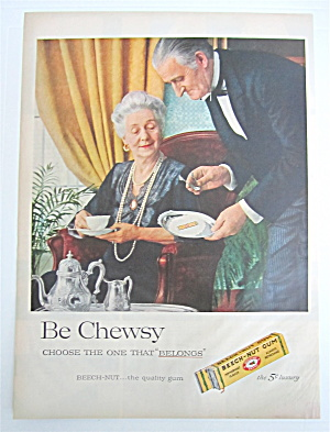 1957 Beech Nut Gum with Butler & Woman (Image1)