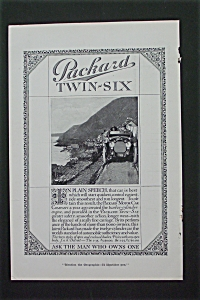 1916 Packard Twin-six With Packard Driving Hill