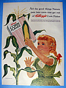 Vintage Ad: 1958 Kellogg's Corn Flakes Cereal (Image1)