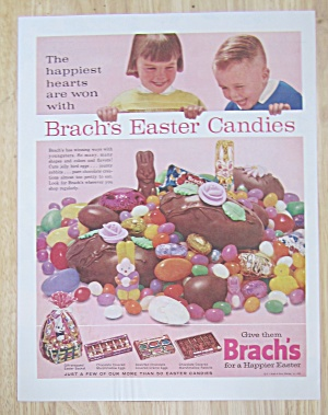 1963 Brach's Easter Candy W/ Children Looking At Candy