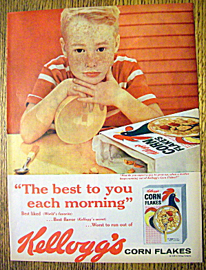 1959 Kellogg's Corn Flakes Cereal with Little Boy (Image1)