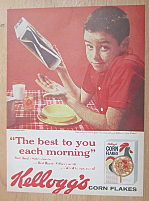 1959 Kellogg's Corn Flakes Cereal With Police Officer