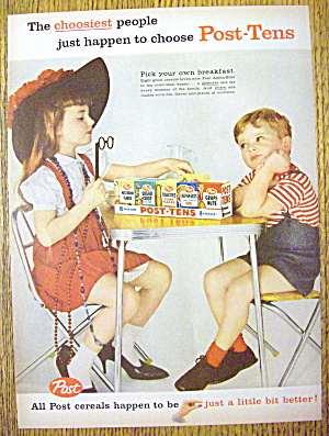 1959 Post Tens Snack Pak With Little Girl & Little Boy