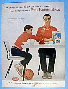 Vintage Ad: 1959 Post Raisin Bran Cereal (Image1)