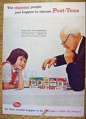 1959 Post Tens Snack Pak With Girl & Old Man